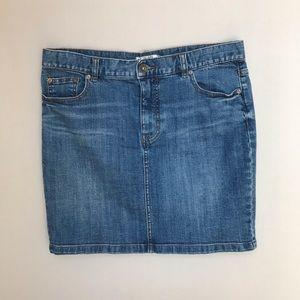 Free People Denim Jean Skirt 8